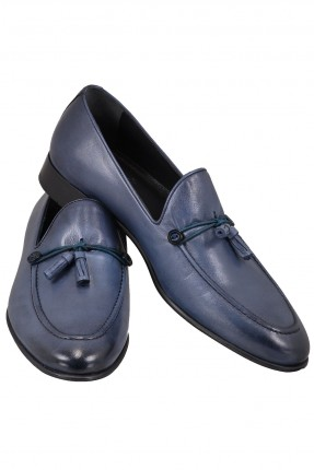 حذاء رجالي جلد مزين بكشكش