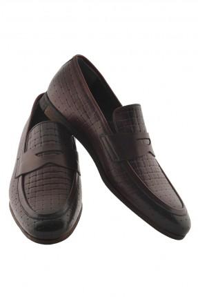 حذاء رجالي جلد - احمر داكن