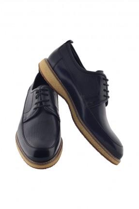 حذاء رجالي برباط - ازرق داكن