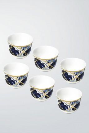 طقم فناجين قهوة عربية 6 اشخاص - ازرق