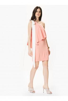 فستان رسمي مع كشكش - وردي