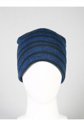 قبعة رجالية صوف مخططة