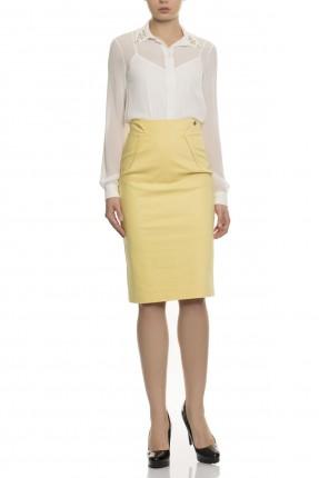 تنورة قصيرة ضيقة - اصفر