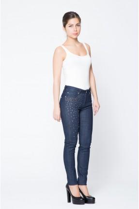 بنطال نسائي جينز مزين ستراس