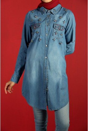 قميص نسائي جينز مزين