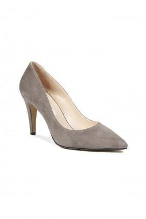 حذاء نسائي جلد كعب عالي