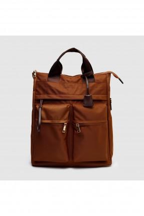 حقيبة ظهر نسائية مع جيوب