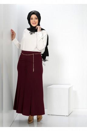 تنورة طويلة شيك - خمري
