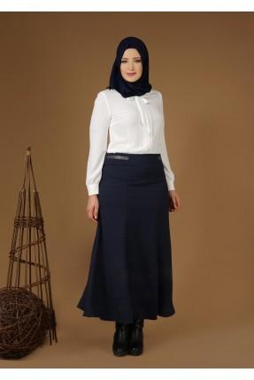 تنورة طويلة شيك - ازرق داكن