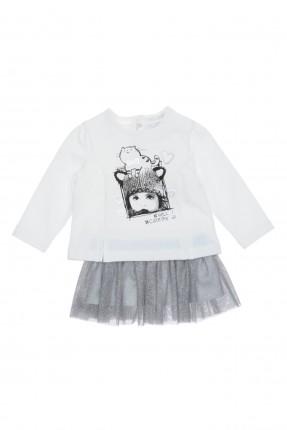 فستان بيبي بناتي تنورة فضية