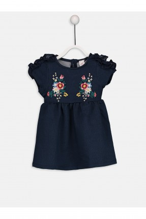 فستان بيبي بناتي منقش بالورود