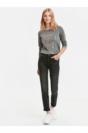 بنطال نسائي جينز سليم - اسود