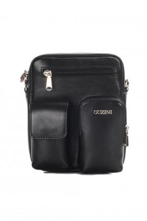 حقيبة يد رجالية جلد رسمية - اسود