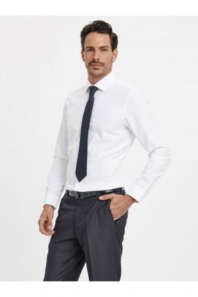 قميص رجالي باكمام طويلة رسمي - ابيض
