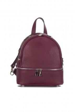 حقيبة ظهر نسائية جلد سبور - خمري