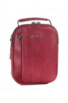 حقيبة يد رجالية جلد سبور - احمر