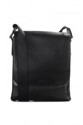 حقيبة يد رجالية جلد شيك - اسود