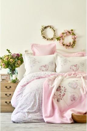 طقم غطاء سرير مزدوج مورد مع بطانية