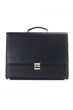 حقيبة يد جلد رجالية رسمية - ازرق داكن