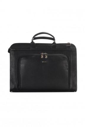 حقيبة يد جلد رجالية رسمية - اسود