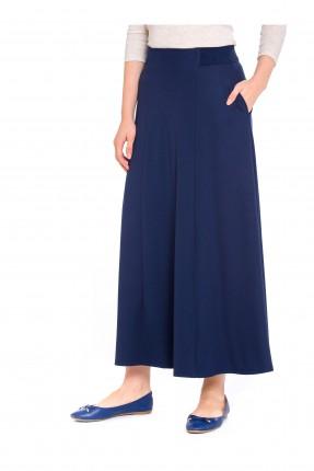 تنورة طويلة كلوش - ازرق داكن