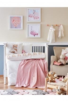 طقم غطاء سرير بيبي بنقوش