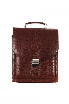 حقيبة يد رجالية جلد منقوش