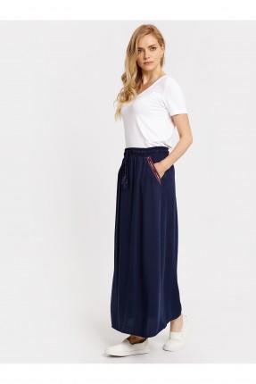 تنورة طويلة مع جيوب - ازرق داكن