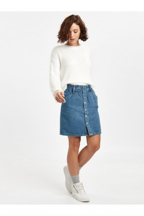 تنورة قصيرة جينز مع ازرار