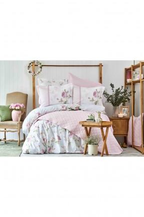 طقم غطاء سرير مزدوج مورد - وردي