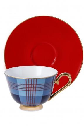 طقم فنجان قهوة /2 شخص/ ملون