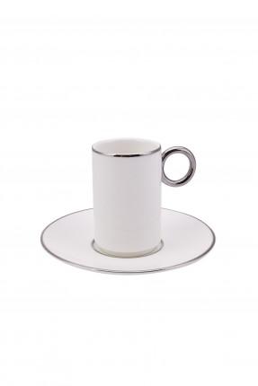 طقم فنجان قهوة /2 شخص / - ابيض