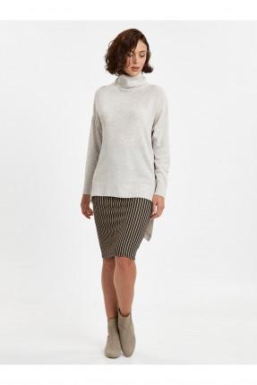 تنورة قصيرة مخططة - ازرق داكن