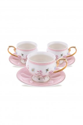 طقم فنجان قهوة برسمات /4 اشخاص/