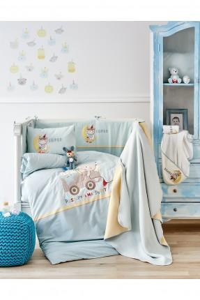 طقم لحاف سرير بيبي ولادي مع رسومات