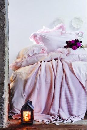 طقم غطاء سرير مزدوج مكشكش