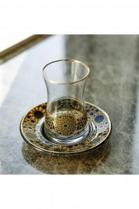 طقم كاسات شاي مزخرفة /18 قطعة/