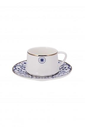طقم فنجان قهوة مزخرف /6 اشخاص/