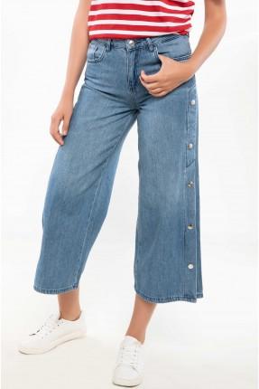 بنطال نسائي جينز عريض