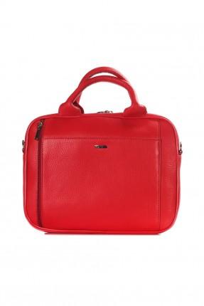 حقيبة يد رجالية جلد - احمر