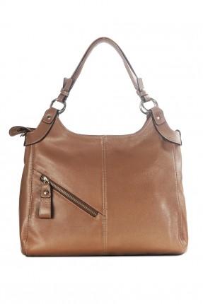 حقيبة يد نسائية جلد مع سحاب