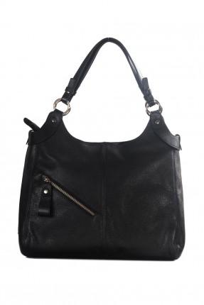 حقيبة يد نسائية جلد - اسود