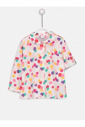 قميص بيبي بناتي منقش