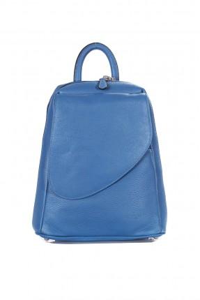 حقيبة ظهر نسائية جلد - ازرق