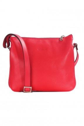 حقيبة يد نسائية جلد رسمية - احمر