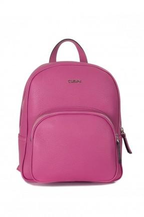 حقيبة ظهر نسائية جلد رسمية - وردي
