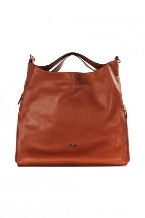 حقيبة يد نسائية جلد رسمية - بني