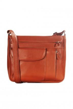 حقيبة يد نسائية جلد مع جيب