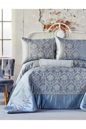 طقم غطاء سرير مزدوج - ازرق