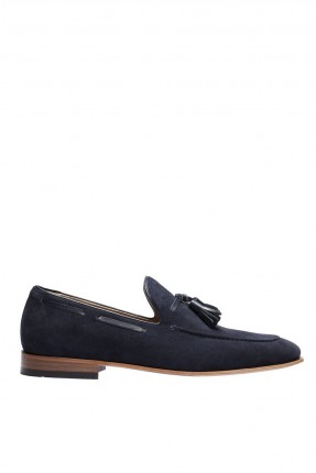 حذاء رجالي شيك مزين بكشكش - ازرق داكن